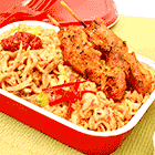 Asian Fried Rice with Chicken Satay