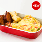 Masala Omelette With Chicken Nuggets And Parsley Potatoes