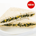 Spinach and Corn in Multi Grain Bread Sandwich