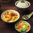 Nyonya Prawn Curry with Rice