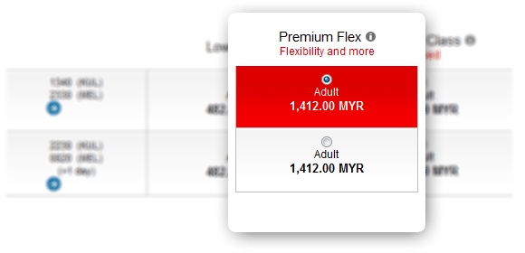 Premium Flex fares