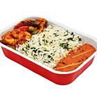 香料饭搭配香料蔬菜、印度芝士及特色布卡拉扁豆酱