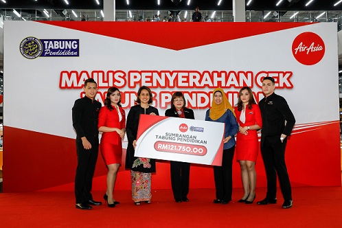 AirAsia contributes RM121,750 to the National Higher Education Fund Corporation to aid underprivileged students
