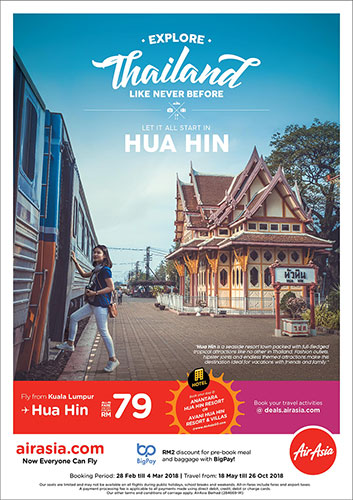 AirAsia Flies You To The Stylish Coastal Town Of Hua Hin Thailand