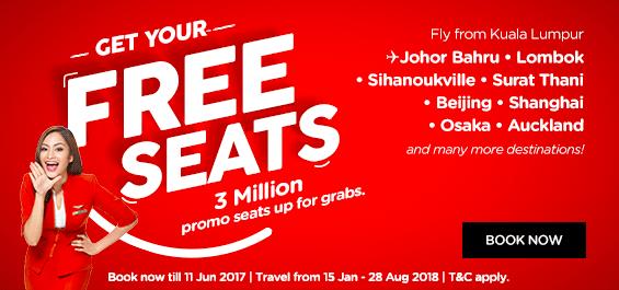 AirAsia Free Seats - EN