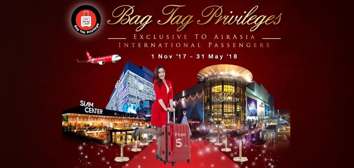 AirAsia Bag Tag: Enjoy extra 5kg baggage allowance and free gifts!
