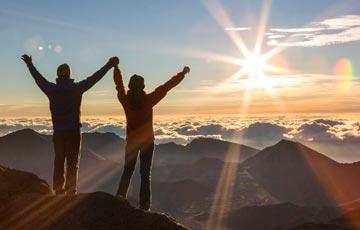 See the sunrise at the summit of Haleakala on Maui