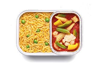 ピラフと野菜煮込み (V)