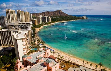 Explore the vibrant shores of Waikiki Beach on Oahu