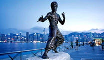 Book flights online to Hong Kong and visit the Avenue Of Stars