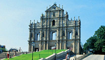 Travel to Macau with cheapest airfare and visit Ruins of St. Paul's