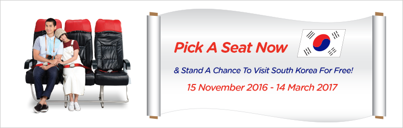 Pick A Seat Now & Stand A Chance To Visit South Korea For Free!