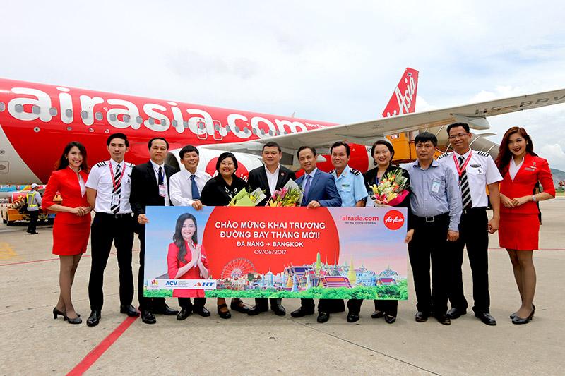 แอร์เอเชียเปิดบินตรงทุกวันเที่ยวบินแรก จากดานังสู่กรุงเทพฯ (ท่าอากาศยานดอนเมือง)