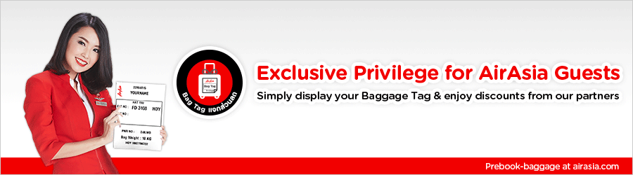 Simply display your Baggage Tag & enjoy discounts from our partners