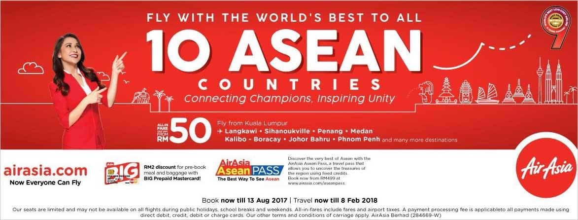 AirAsia celebrates Asean Golden Jubilee with low fares | AirAsia