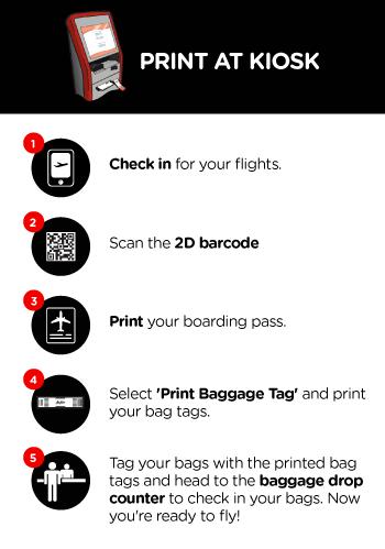 Now You Can Self Print Your Bag Tags Self Bag Tag Airasia